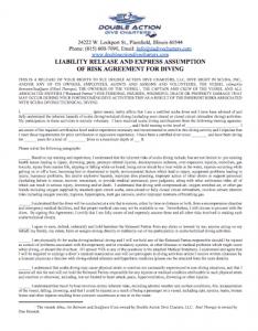 Diver Liability Form